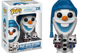 Olaf with Kittens